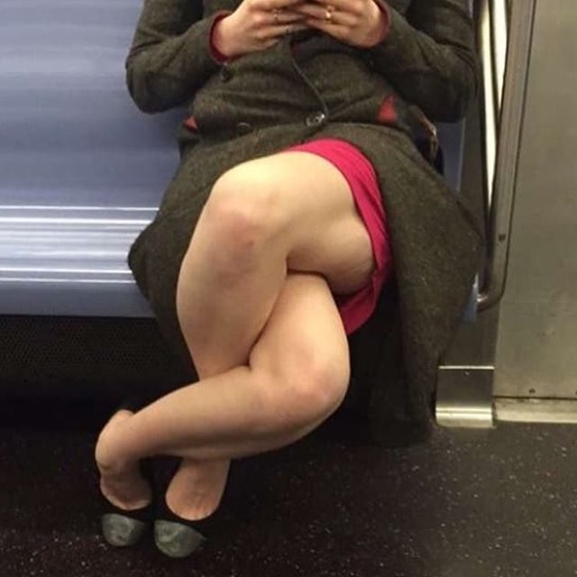 Cross Legged Woman on Tube